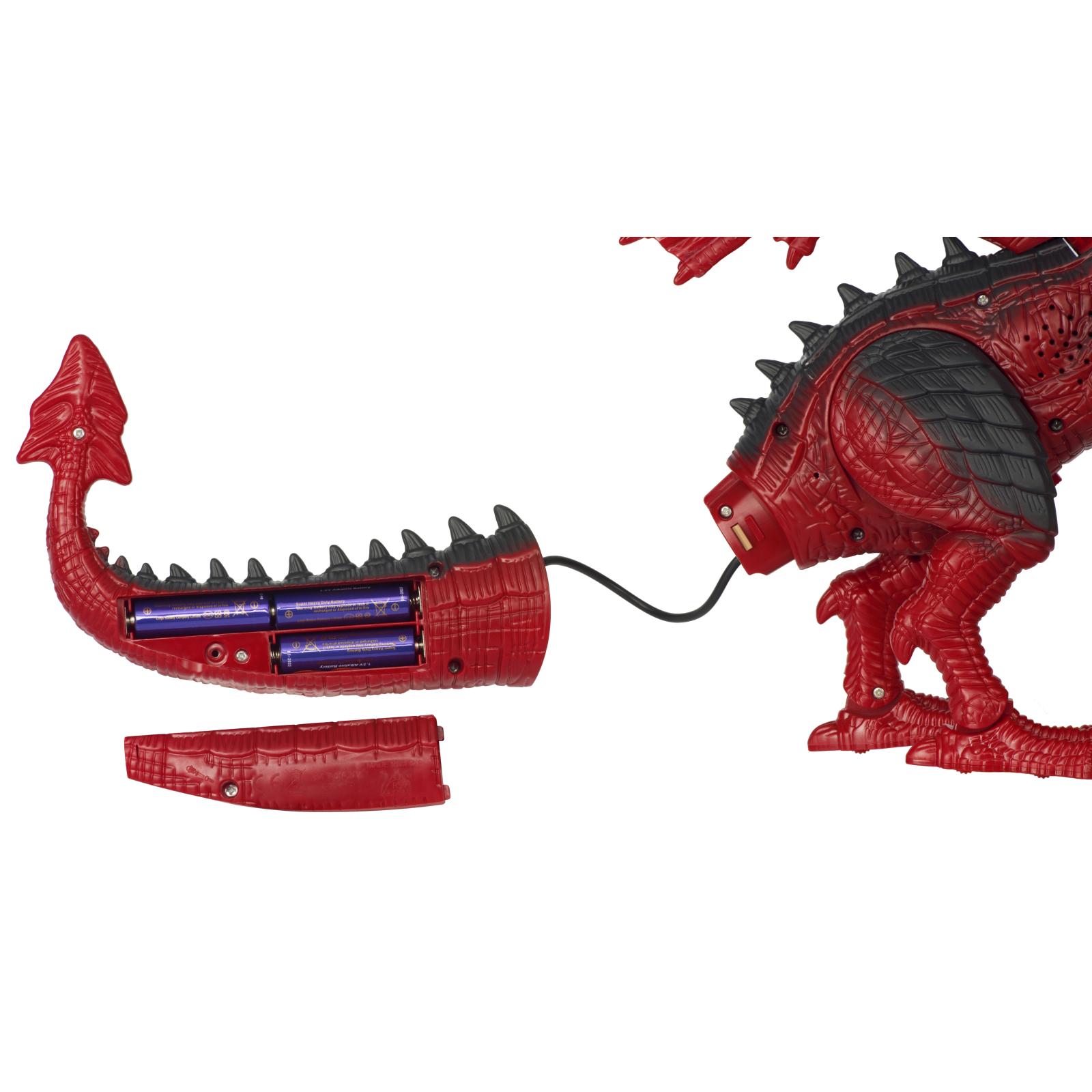 Интерактивная игрушка Same Toy Динозавр Dinosaur Planet Дракон красный со светом и звуком (RS6139Ut) изображение 3