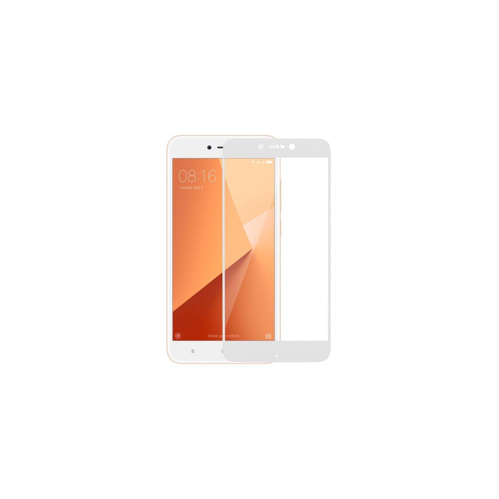 Стекло защитное MakeFuture для Xiaomi Redmi 5A White Full Cover Full Glue (MGFCFG-XR5AW) изображение 4