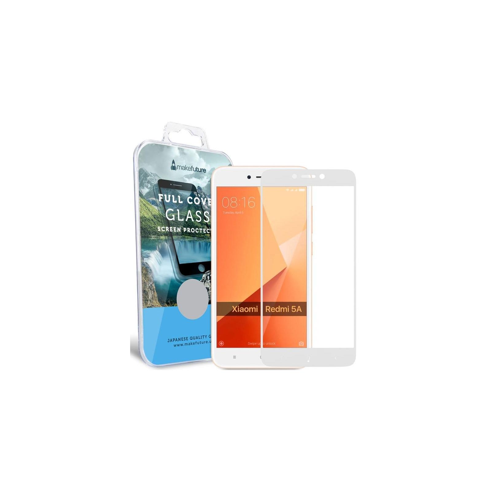 Стекло защитное MakeFuture для Xiaomi Redmi 5A White Full Cover Full Glue (MGFCFG-XR5AW) изображение 5