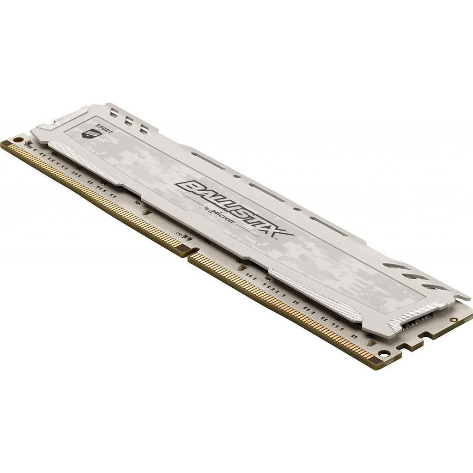 Модуль памяти для компьютера DDR4 8GB 2666 MHz Ballistix Sport LT White MICRON (BLS8G4D26BFSCK) изображение 4