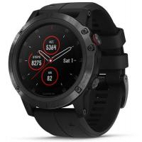 Смарт-часы Garmin Fenix 5x Plus Sapphire Black with Black Silicone (010-01989-64)