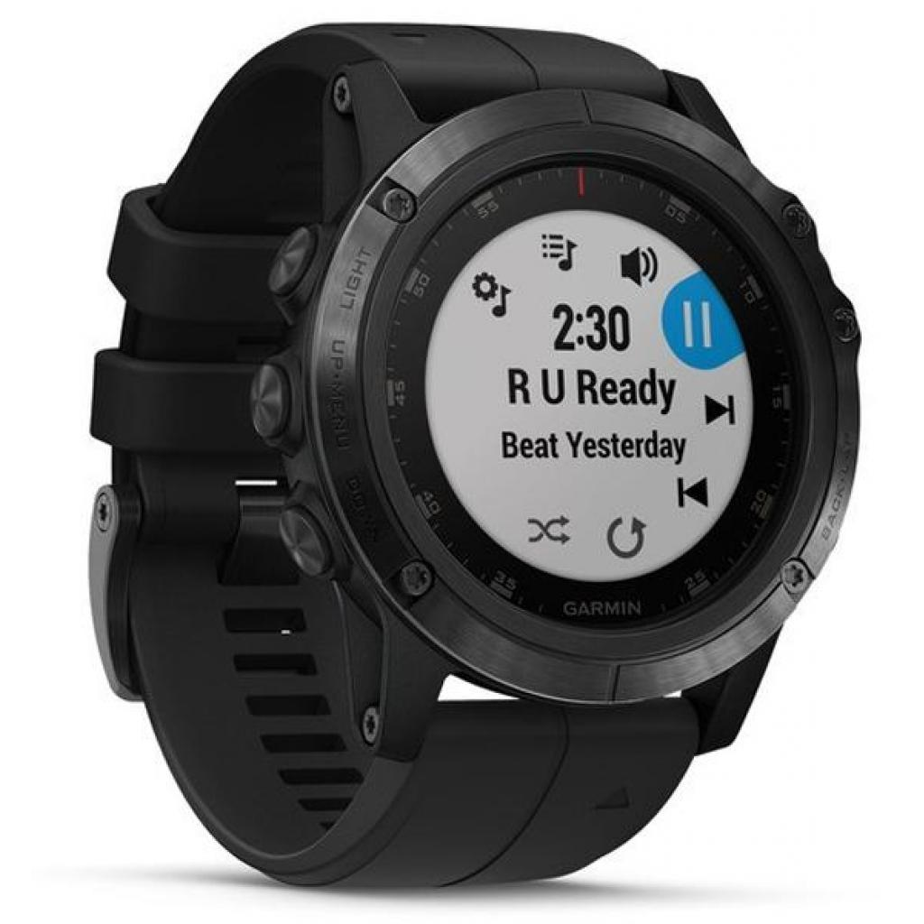 Смарт-часы Garmin Fenix 5x Plus Sapphire Black with Black Silicone (010-01989-64) изображение 3