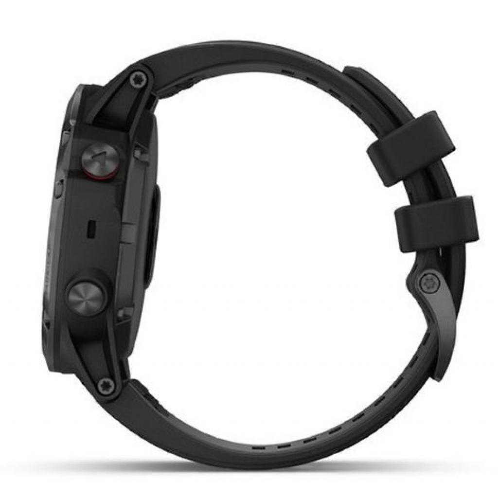 Смарт-часы Garmin Fenix 5x Plus Sapphire Black with Black Silicone (010-01989-64) изображение 4