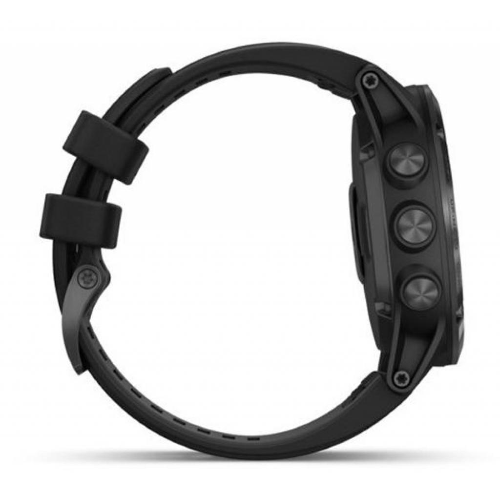 Смарт-часы Garmin Fenix 5x Plus Sapphire Black with Black Silicone (010-01989-64) изображение 5