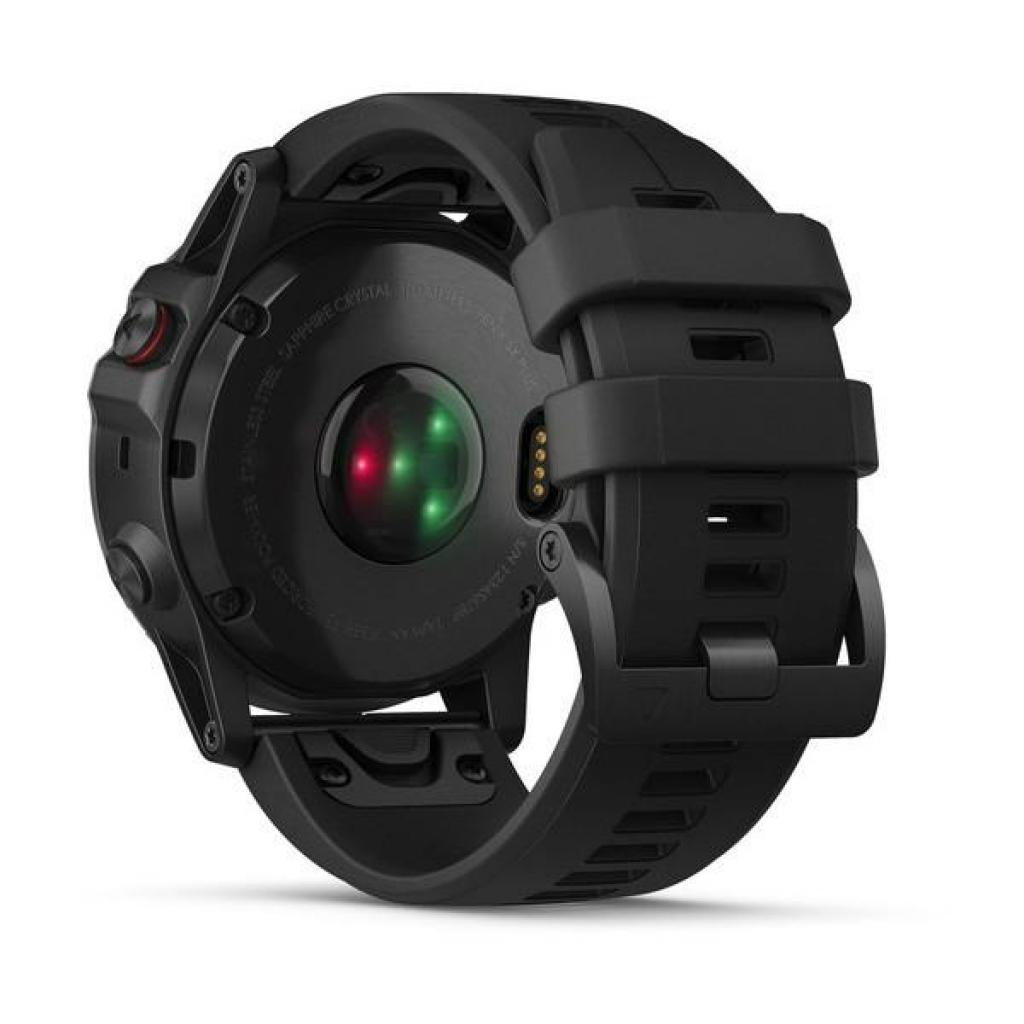 Смарт-часы Garmin Fenix 5x Plus Sapphire Black with Black Silicone (010-01989-64) изображение 6
