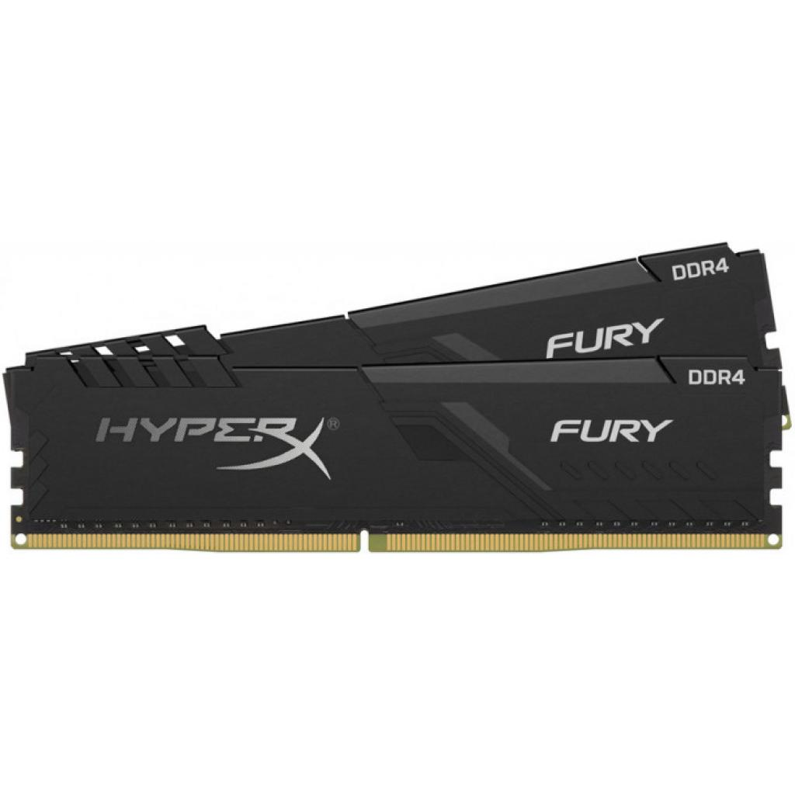 Модуль памяти для компьютера DDR4 16GB (2x8GB) 2666 MHz HyperX Fury Black HyperX (Kingston Fury) (HX426C16FB3K2/16) изображение 2