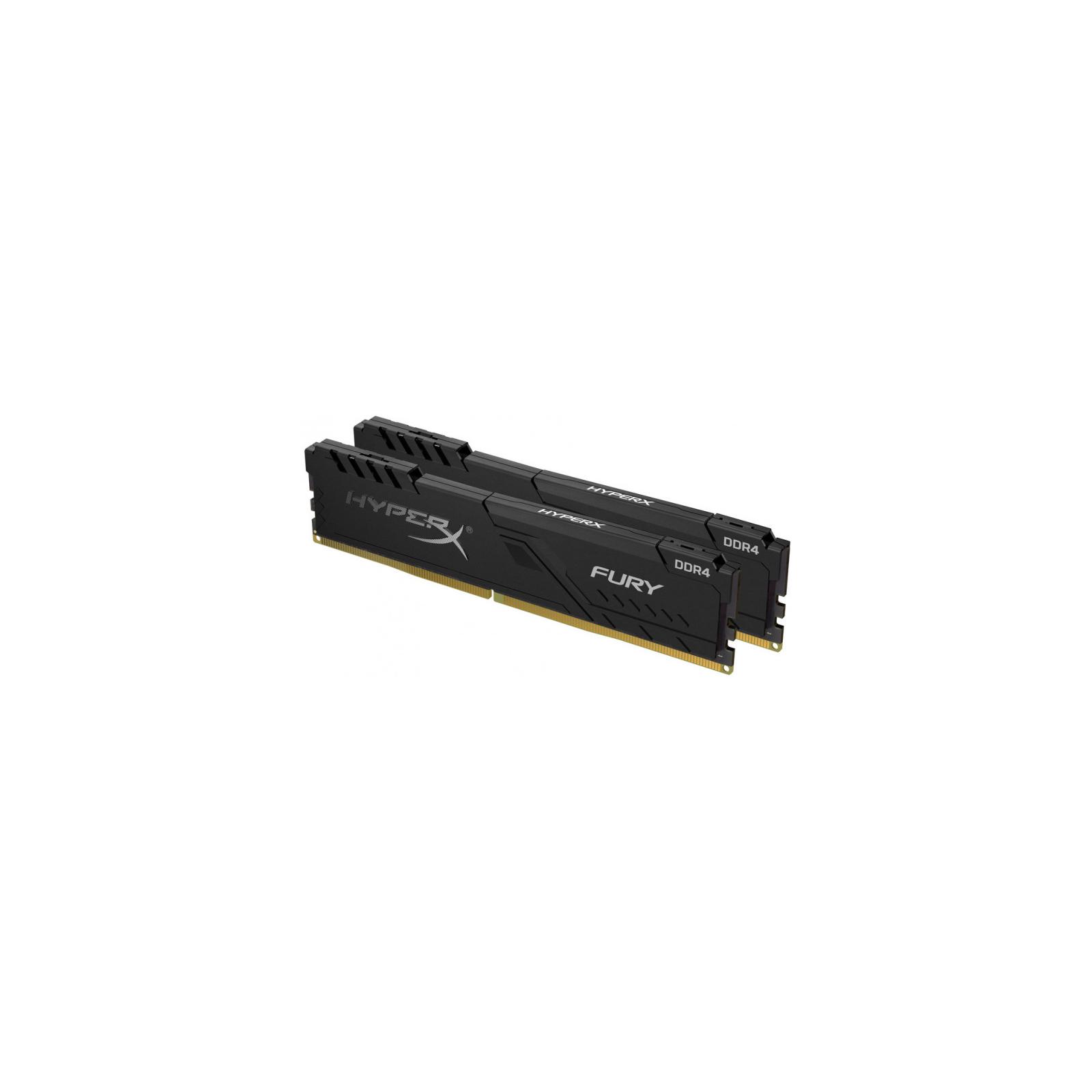 Модуль памяти для компьютера DDR4 16GB (2x8GB) 2666 MHz HyperX Fury Black HyperX (Kingston Fury) (HX426C16FB3K2/16)