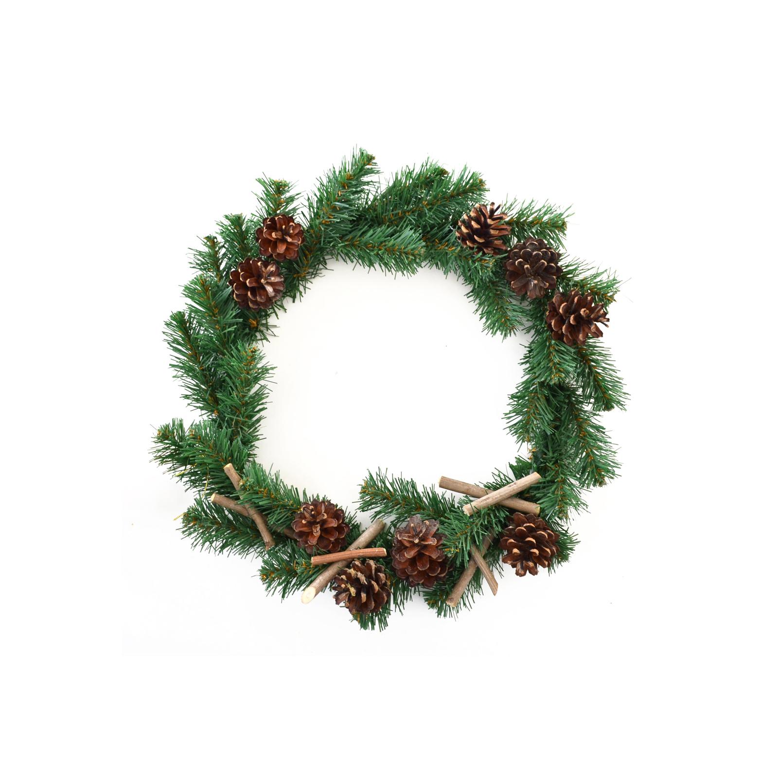 Украшение декоративное YES! Fun Венок с украшением Рождественская ночь 40см (904204)