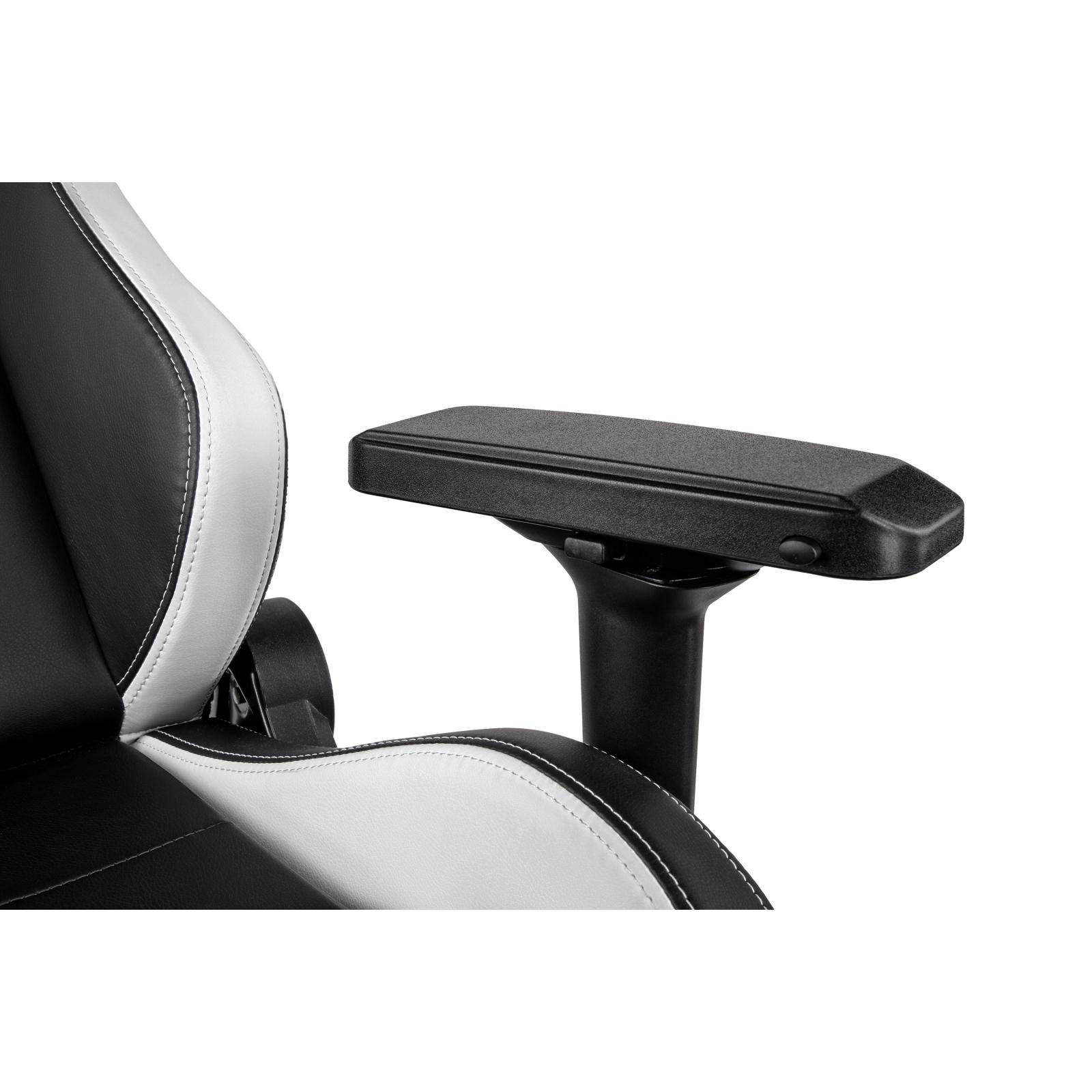 Крісло ігрове 2E GC24 Black/White (2E-GC24BLW) зображення 6