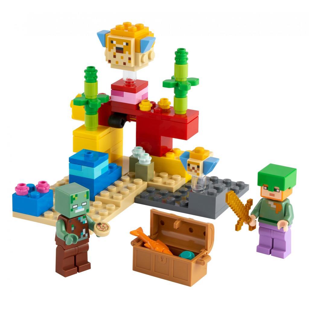 Конструктор LEGO Minecraft Коралловый риф 92 детали (21164) изображение 2