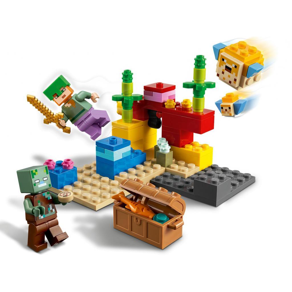 Конструктор LEGO Minecraft Коралловый риф 92 детали (21164) изображение 3