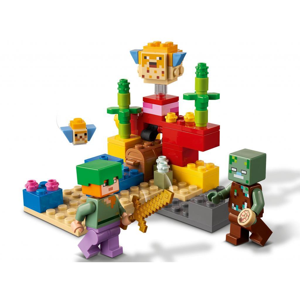 Конструктор LEGO Minecraft Коралловый риф 92 детали (21164) изображение 4
