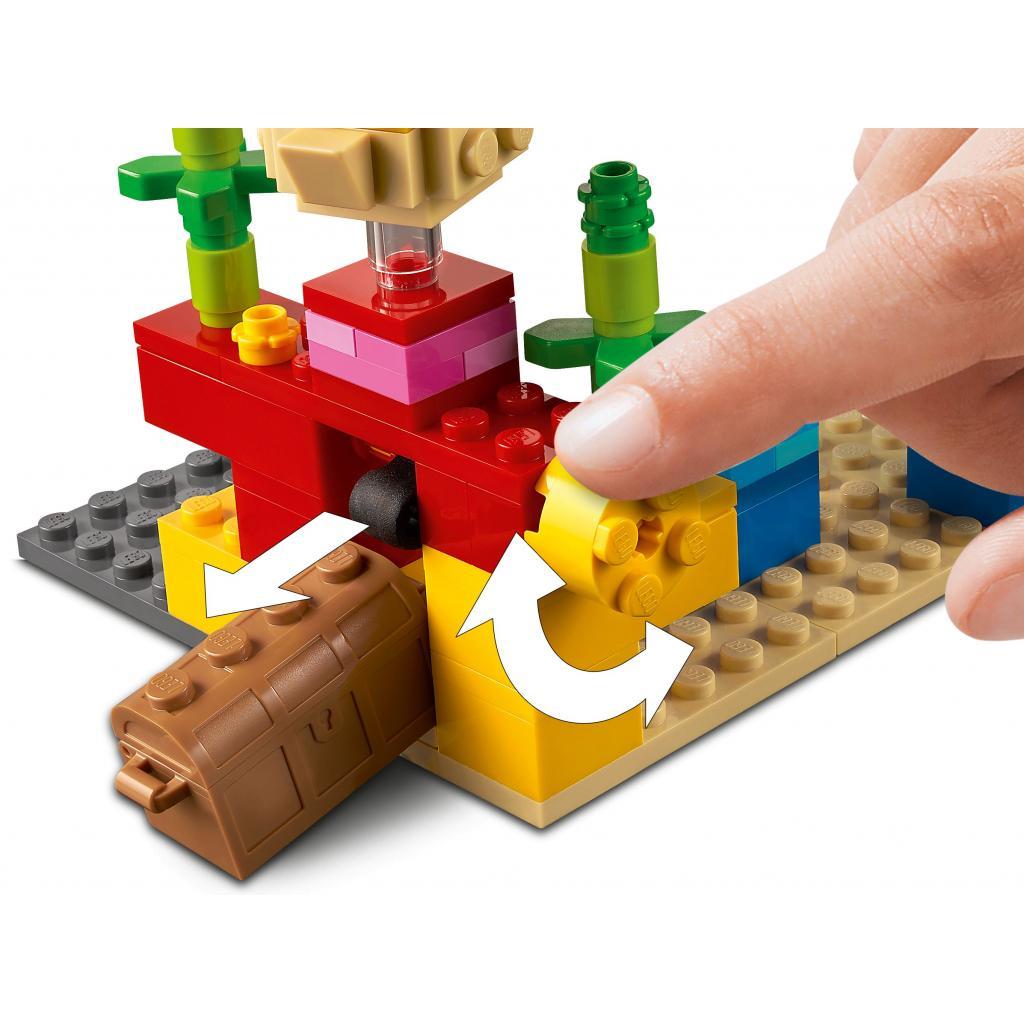 Конструктор LEGO Minecraft Коралловый риф 92 детали (21164) изображение 5
