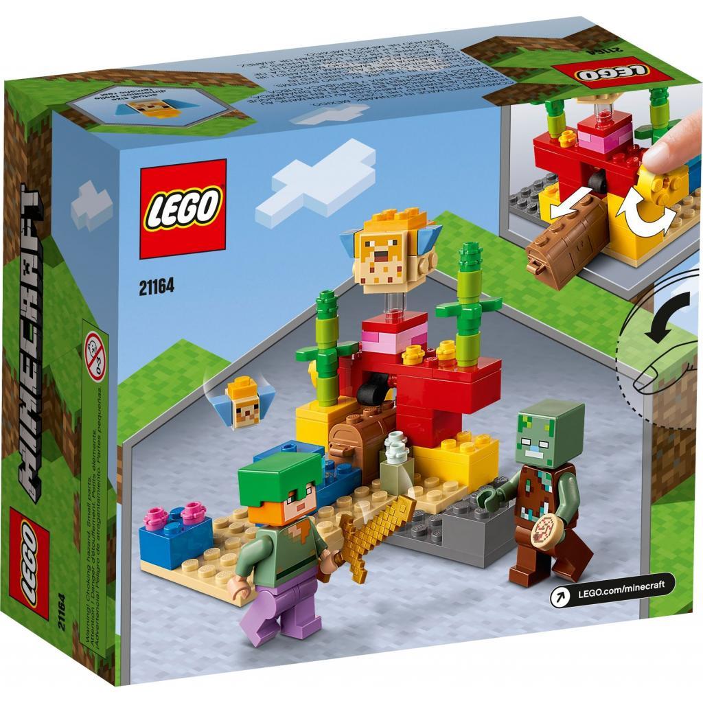 Конструктор LEGO Minecraft Коралловый риф 92 детали (21164) изображение 6