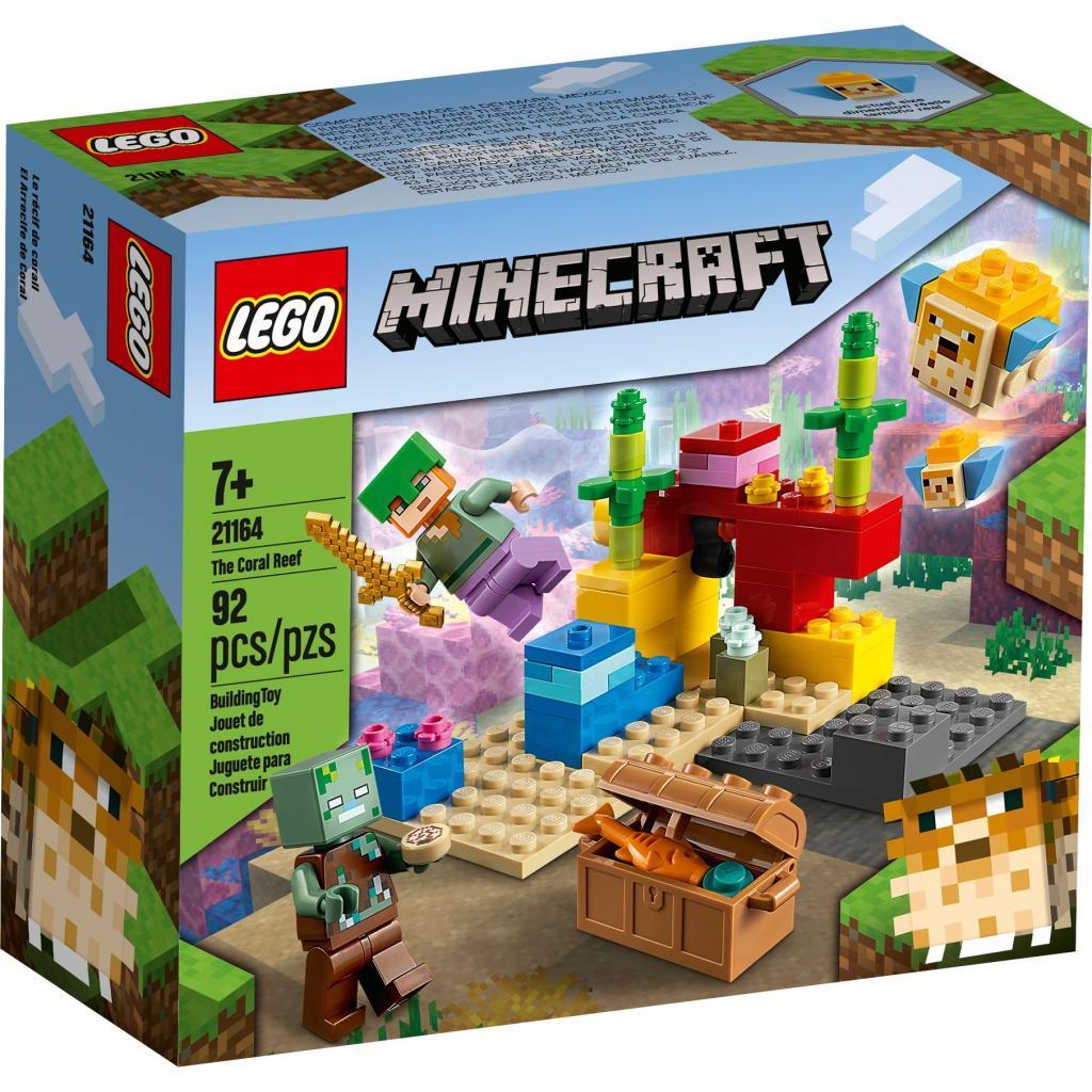 Конструктор LEGO Minecraft Коралловый риф 92 детали (21164)