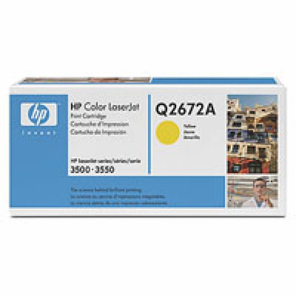 Картридж CLJ 3500/3550 yellow HP (Q2672A)