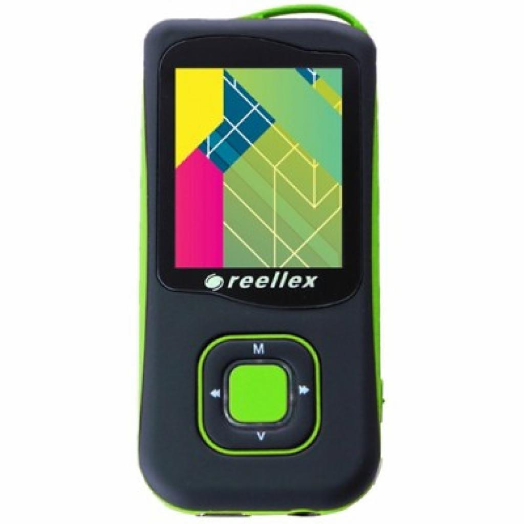 mp3 плеер Reellex UP-47 4GB Black/Green (UP-47 Black/Green)