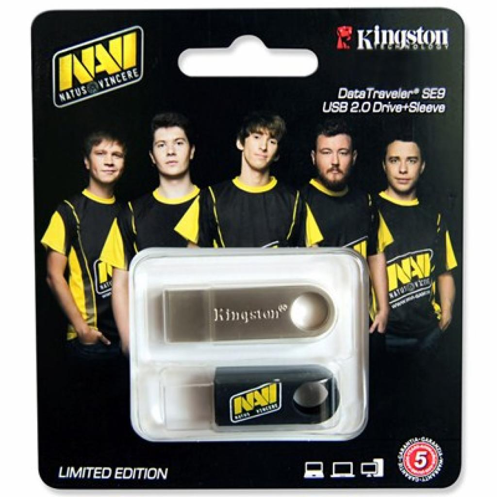 USB флеш накопитель Kingston 16Gb DataTraveler SE9 Na'Vi edition (DTSE9H/16GB-NV / KC-U4616-4B)