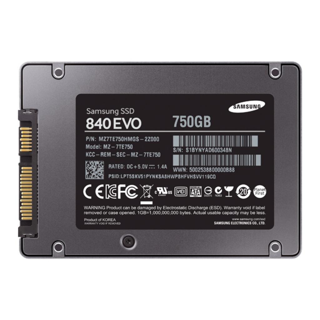 "Накопитель SSD 2.5"" 750GB Samsung (MZ-7TE750BW) изображение 3"