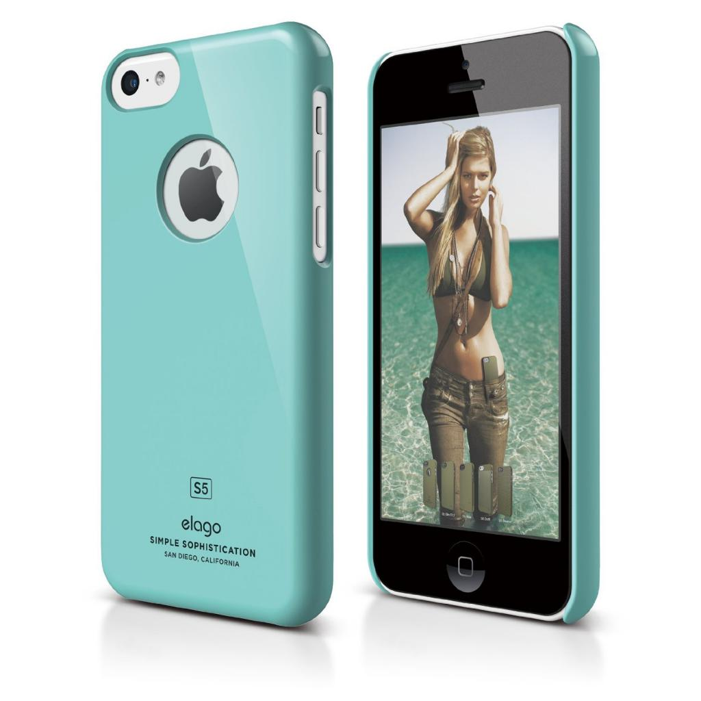 Чехол для моб. телефона ELAGO для iPhone 5C /Slim Fit/Coral Blue (ES5CSM-CBL-RT)
