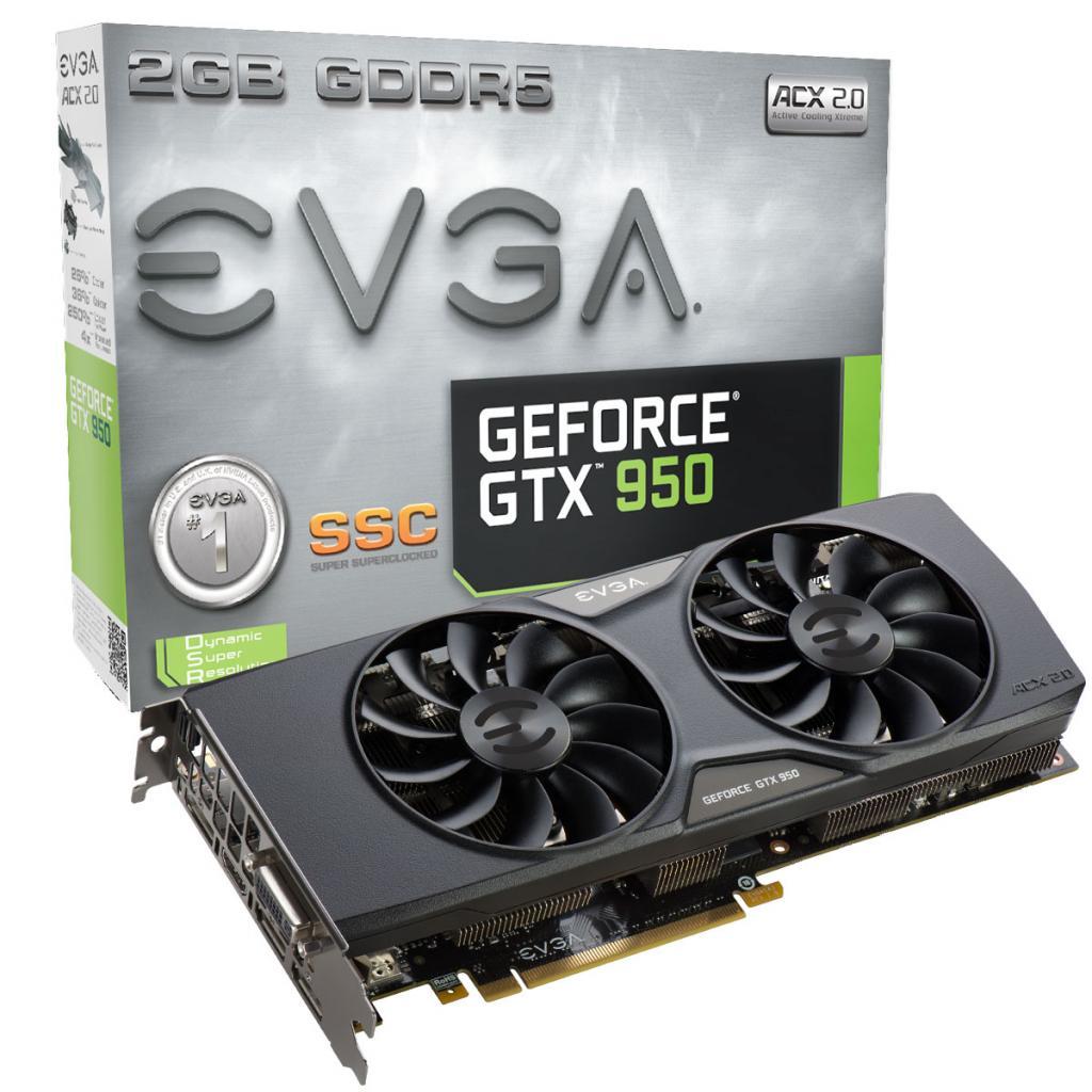 Видеокарта EVGA GeForce GTX950 2048Mb SSC GAMING ACX (02G-P4-2957-KR)