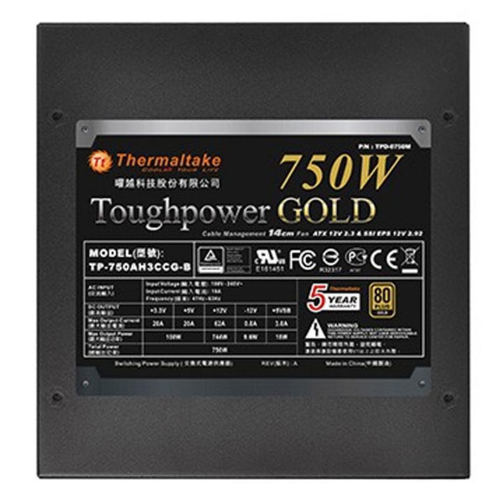 Блок питания ThermalTake 750W (PS-TPD-0750MPCGEU-1) изображение 5