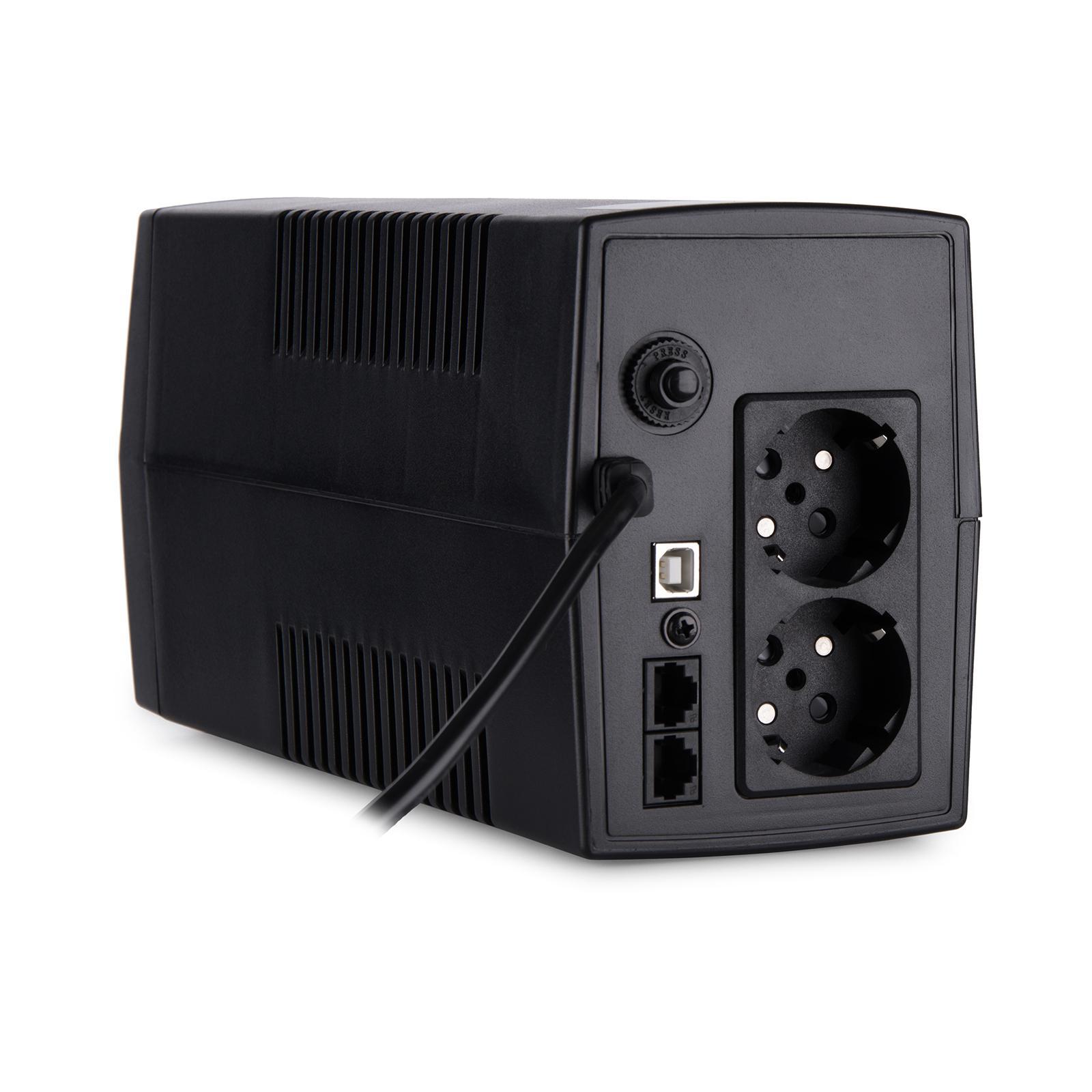 Источник бесперебойного питания Vinga LCD 800VA plastic case with USB (VPC-800PU) изображение 5