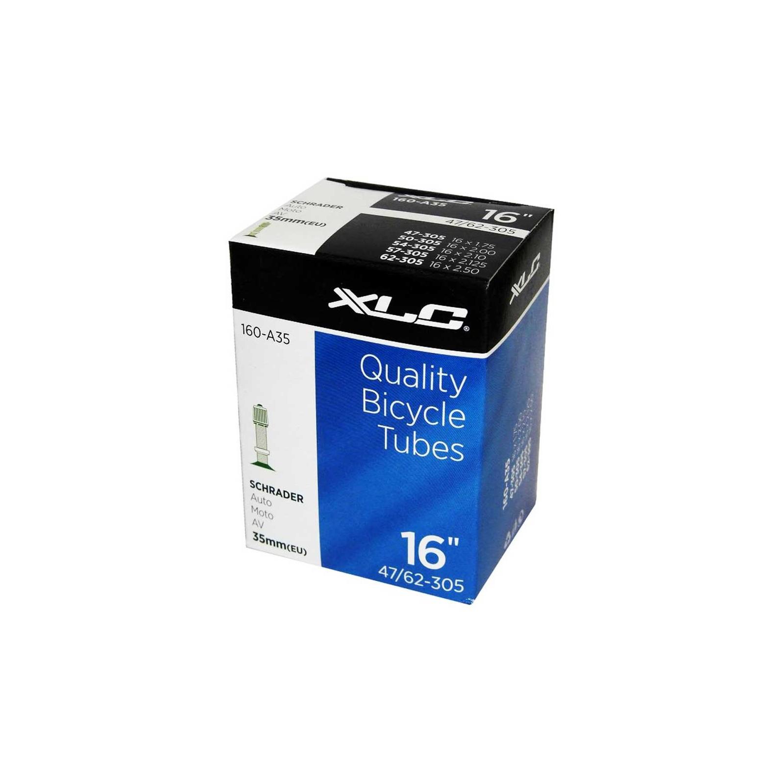 """Велосипедная камера XLC 16"""" x1.75/2.125 (47/62-305) AV35мм (2508160200)"""