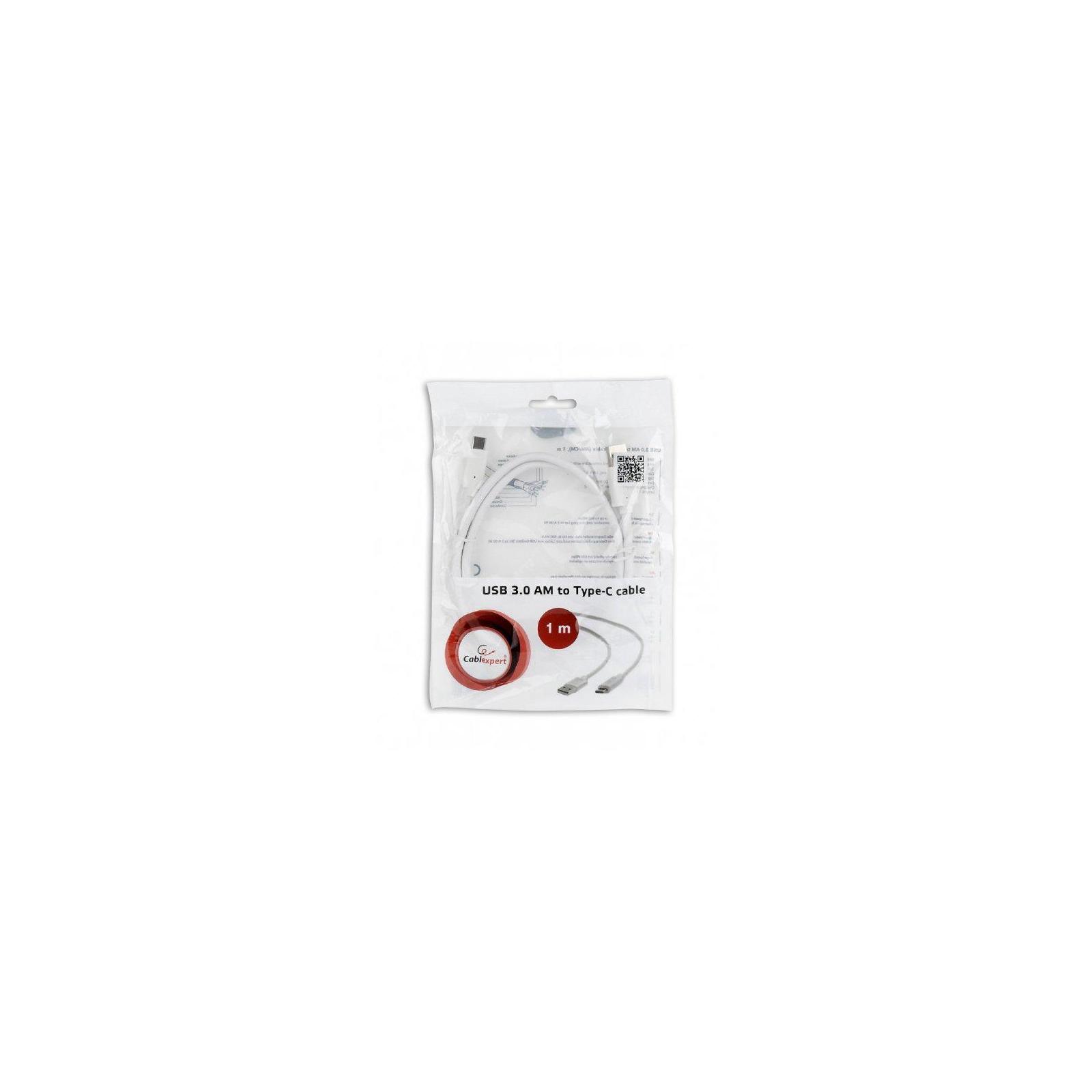 Дата кабель USB 3.0 AM to Type-C 1.0m Cablexpert (CCP-USB3-AMCM-1M-W) изображение 4