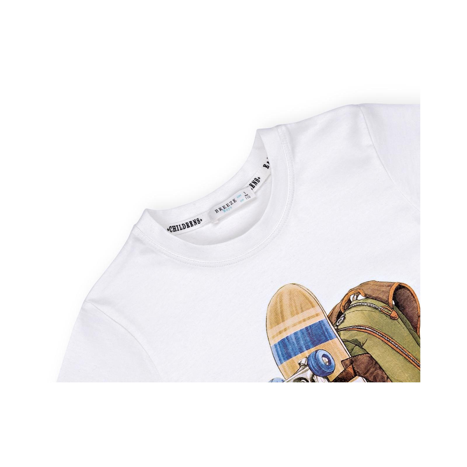 Футболка детская Breeze со скейтом (11126-140B-white) изображение 3