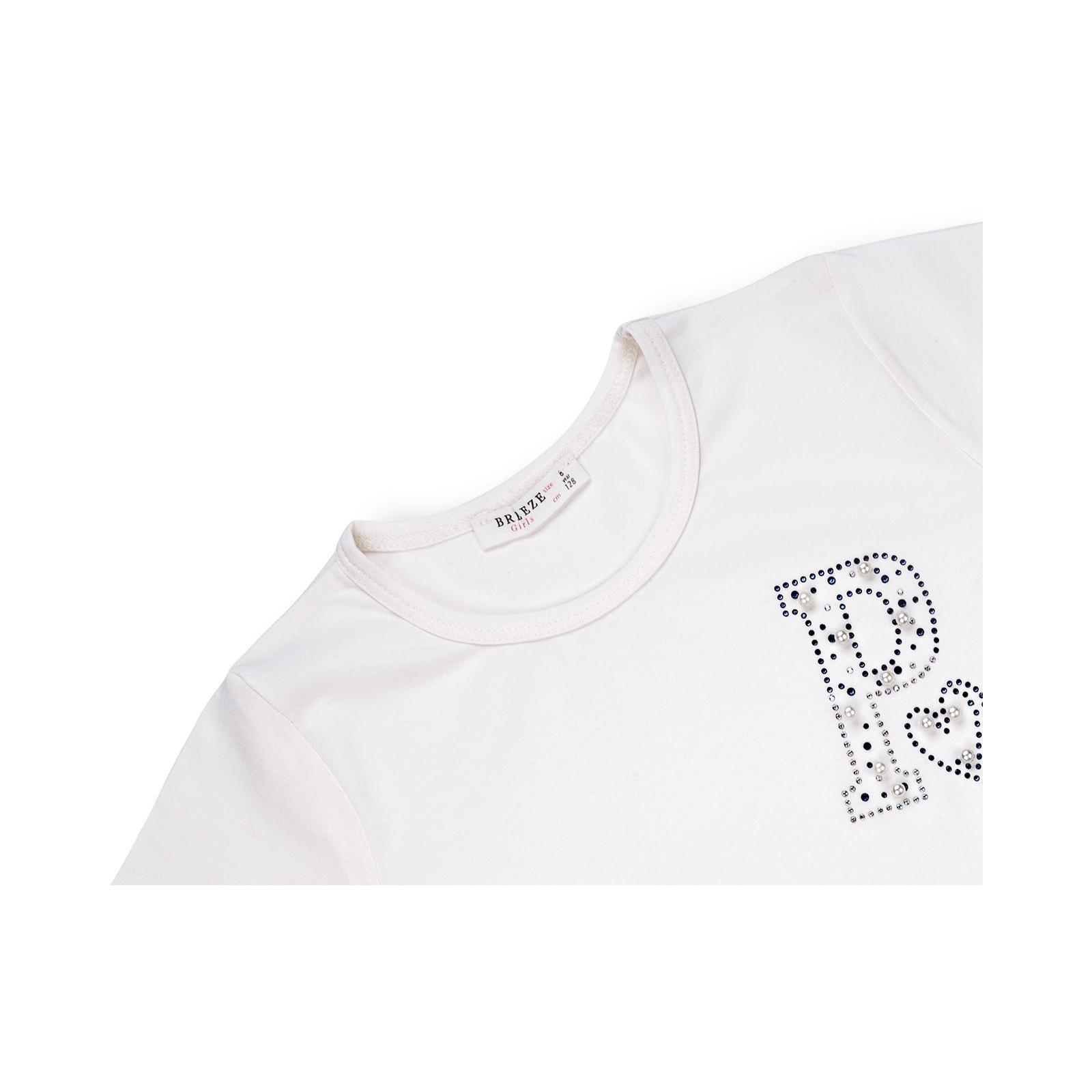 """Футболка детская Breeze """"PARIS"""" (10761-134G-beige) изображение 3"""
