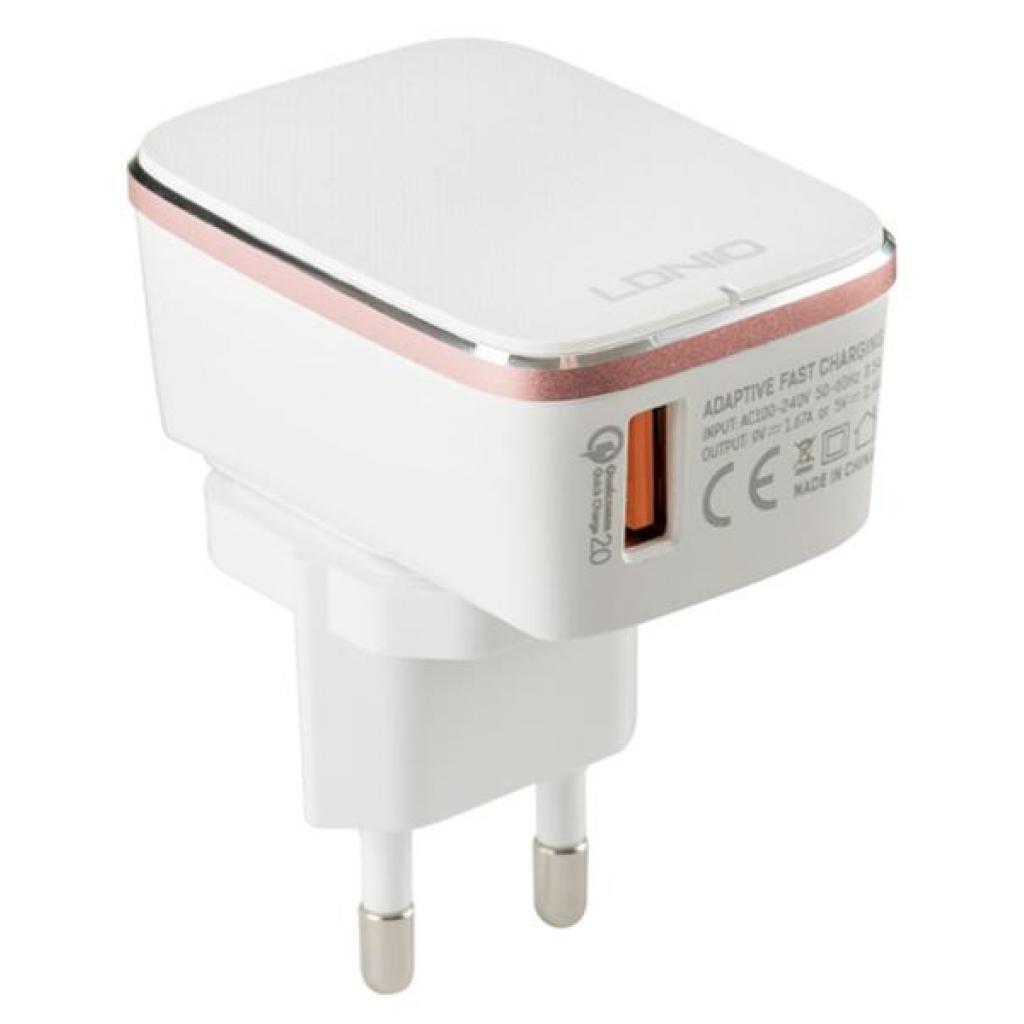 Зарядное устройство LDNIO DL-A1204Q 1*USB, 2.4A, White (55415) изображение 2