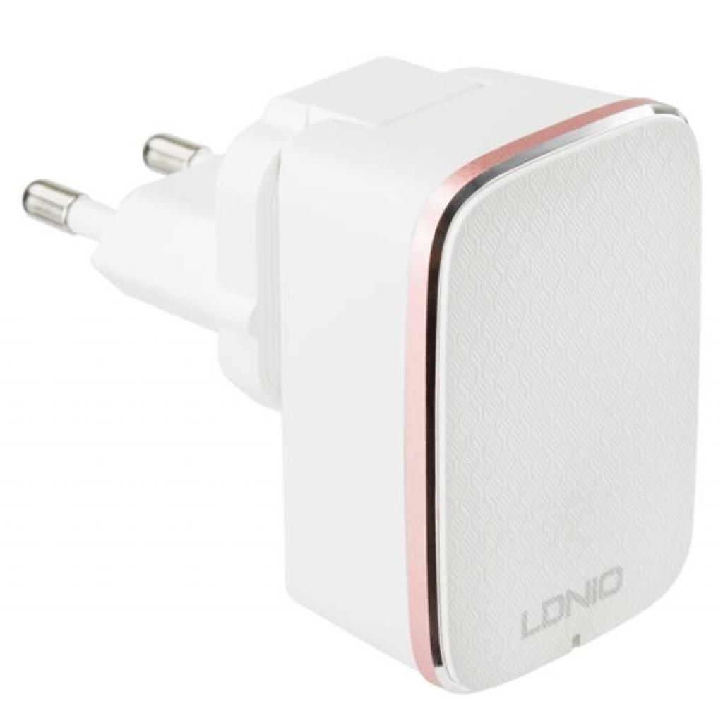 Зарядное устройство LDNIO DL-A1204Q 1*USB, 2.4A, White (55415)
