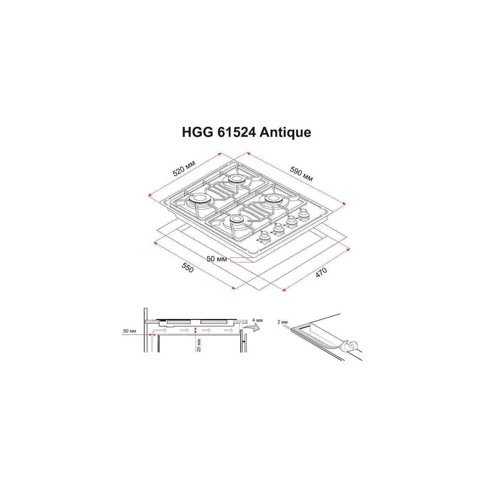 Варочная поверхность PERFELLI HGG 61524 BL ANTIQUE изображение 7