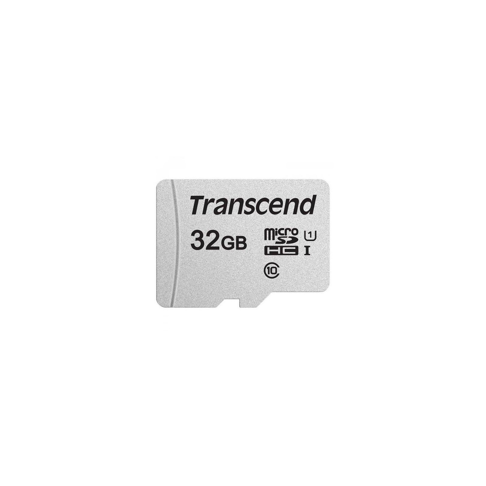 Карта памяти Transcend 32GB microSDHC class 10 UHS-I U1 (TS32GUSD300S-A) изображение 2