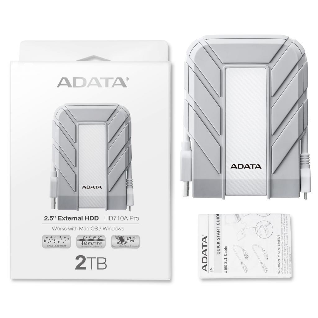 """Внешний жесткий диск 2.5"""" 2TB ADATA (AHD710AP-2TU31-CWH) изображение 5"""