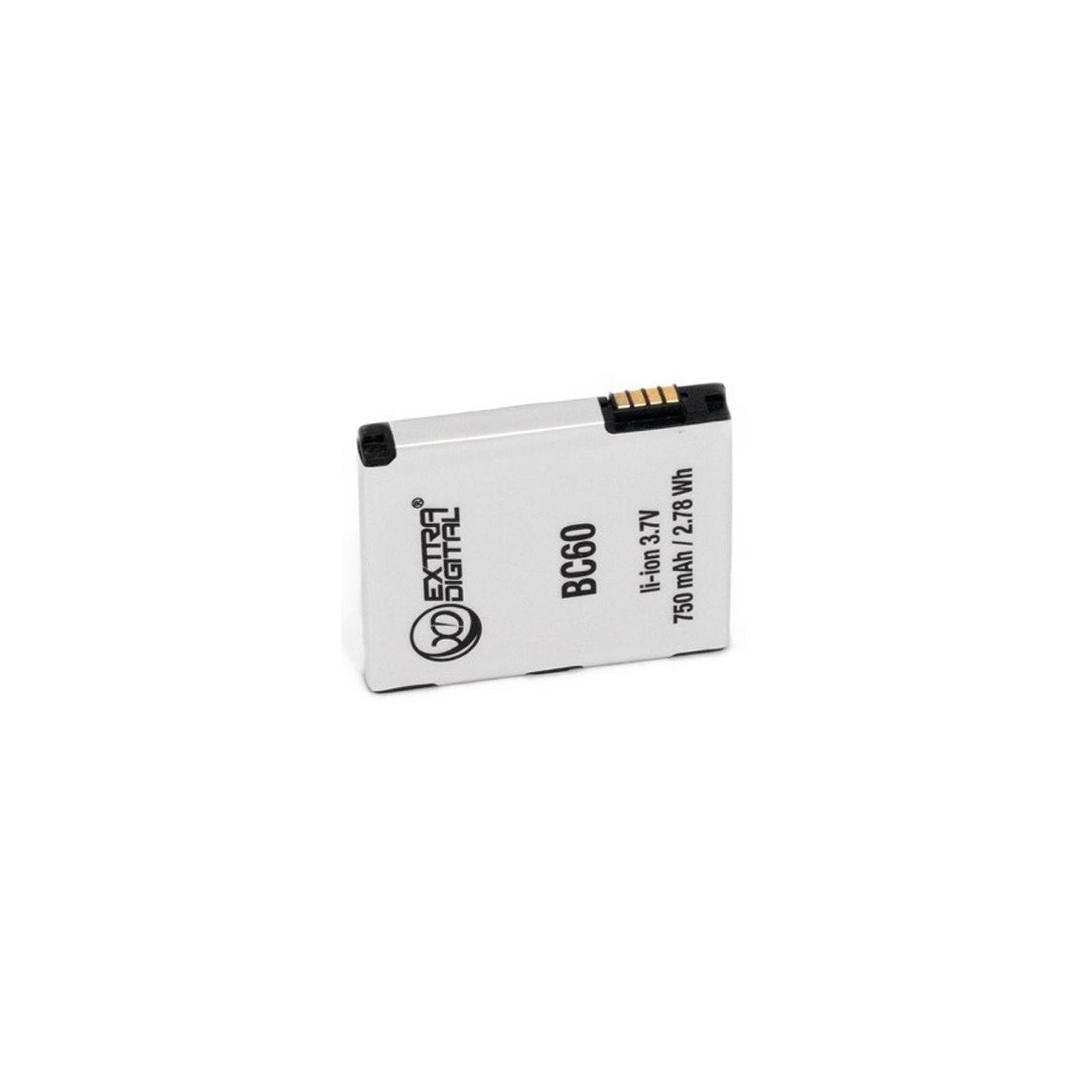 Аккумуляторная батарея EXTRADIGITAL Motorola BC60 (750 mAh) (BMM6253) изображение 3