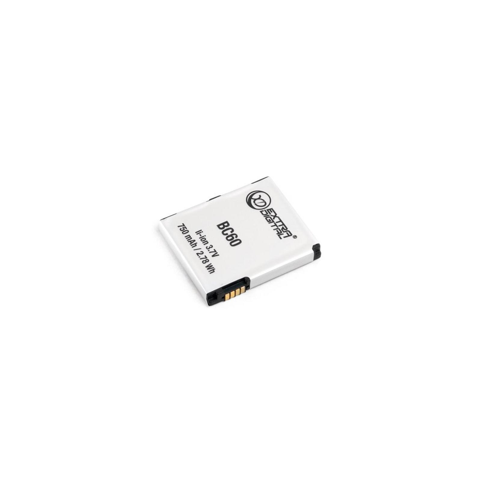 Аккумуляторная батарея EXTRADIGITAL Motorola BC60 (750 mAh) (BMM6253)