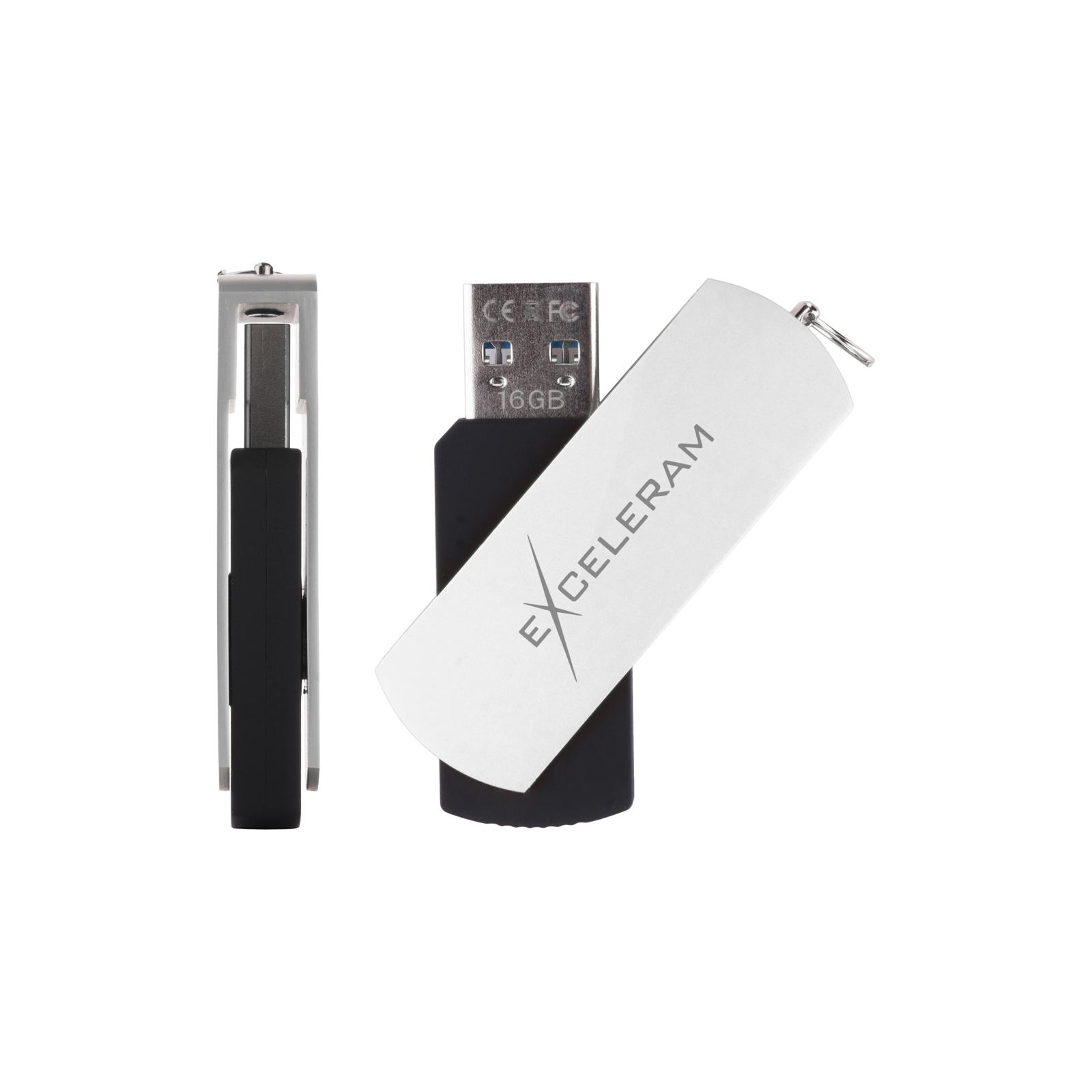 USB флеш накопитель eXceleram 64GB P2 Series Yellow2/Black USB 2.0 (EXP2U2Y2B64) изображение 4