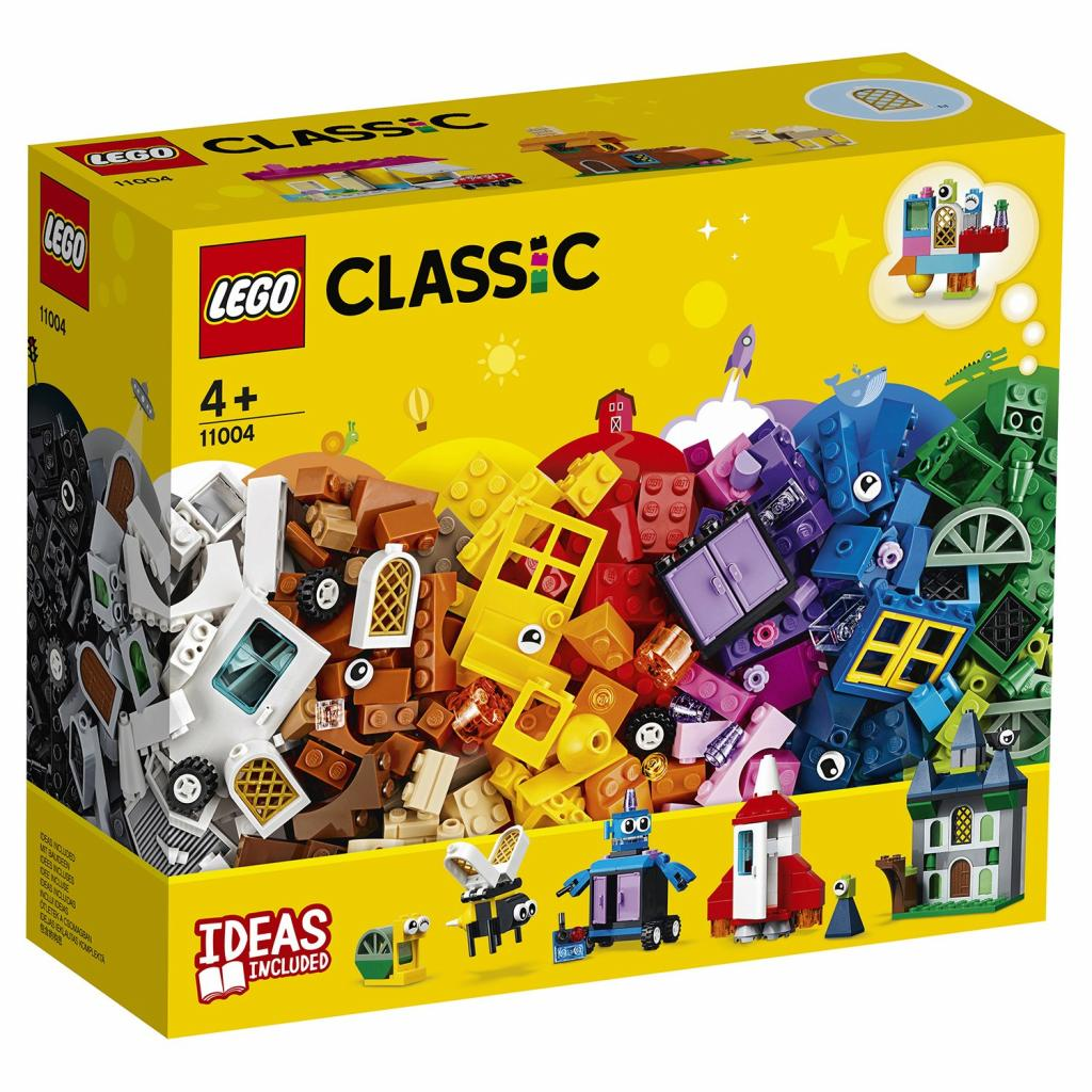 Конструктор LEGO Classic Набор для творчества с окнами 450 деталей (11004)