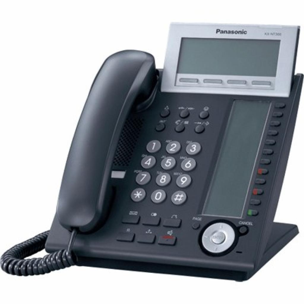 IP телефон PANASONIC KX-NT366RU-B