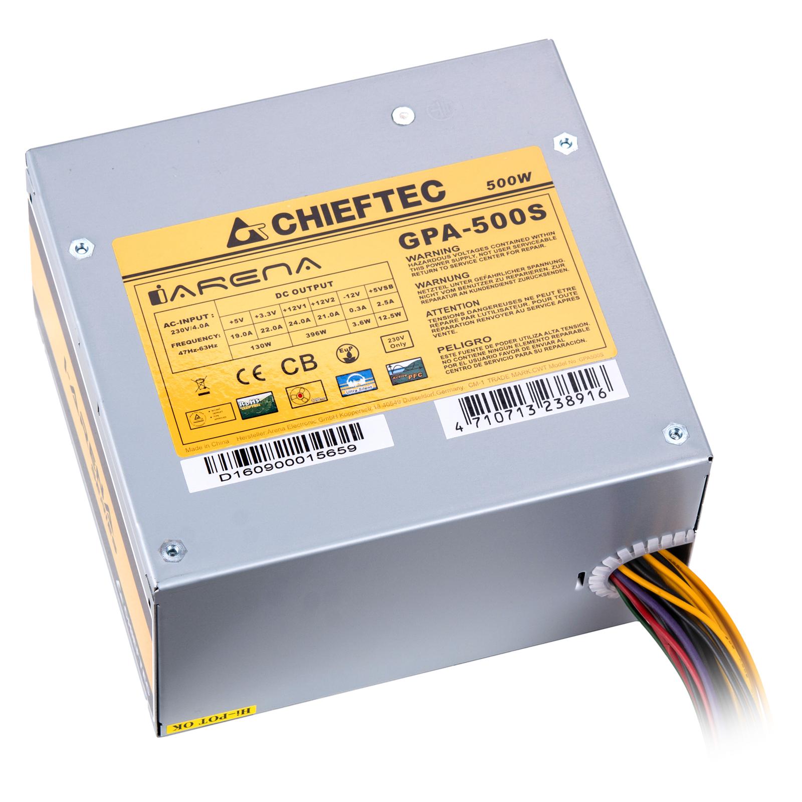 Блок питания CHIEFTEC 500W (GPA-500S) изображение 4