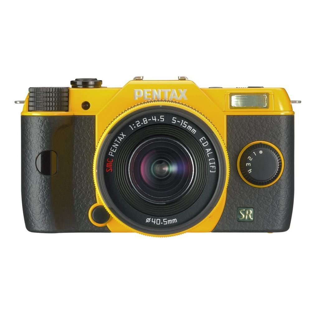 Цифровой фотоаппарат Pentax Q7+ объектив 5-15mm F2.8-4.5 yellow (11553) изображение 3