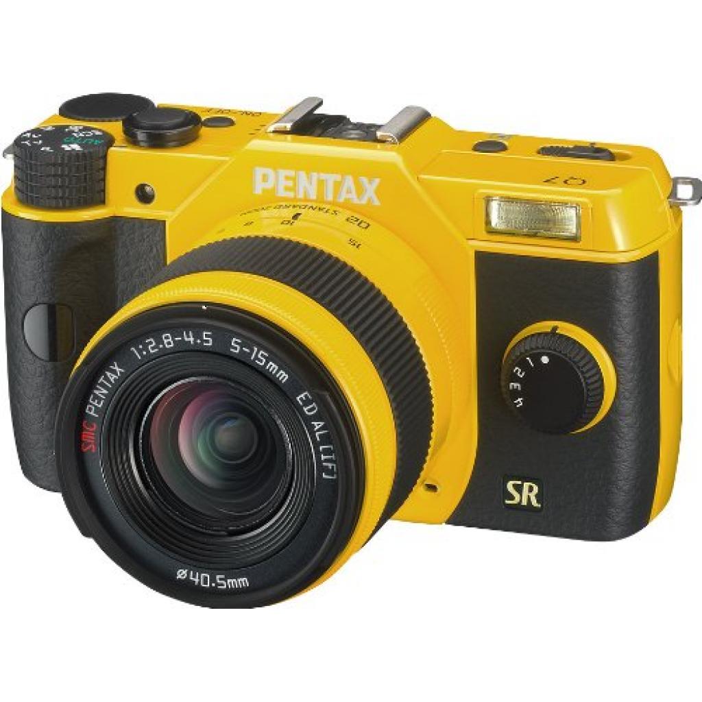 Цифровой фотоаппарат Pentax Q7+ объектив 5-15mm F2.8-4.5 yellow (11553)