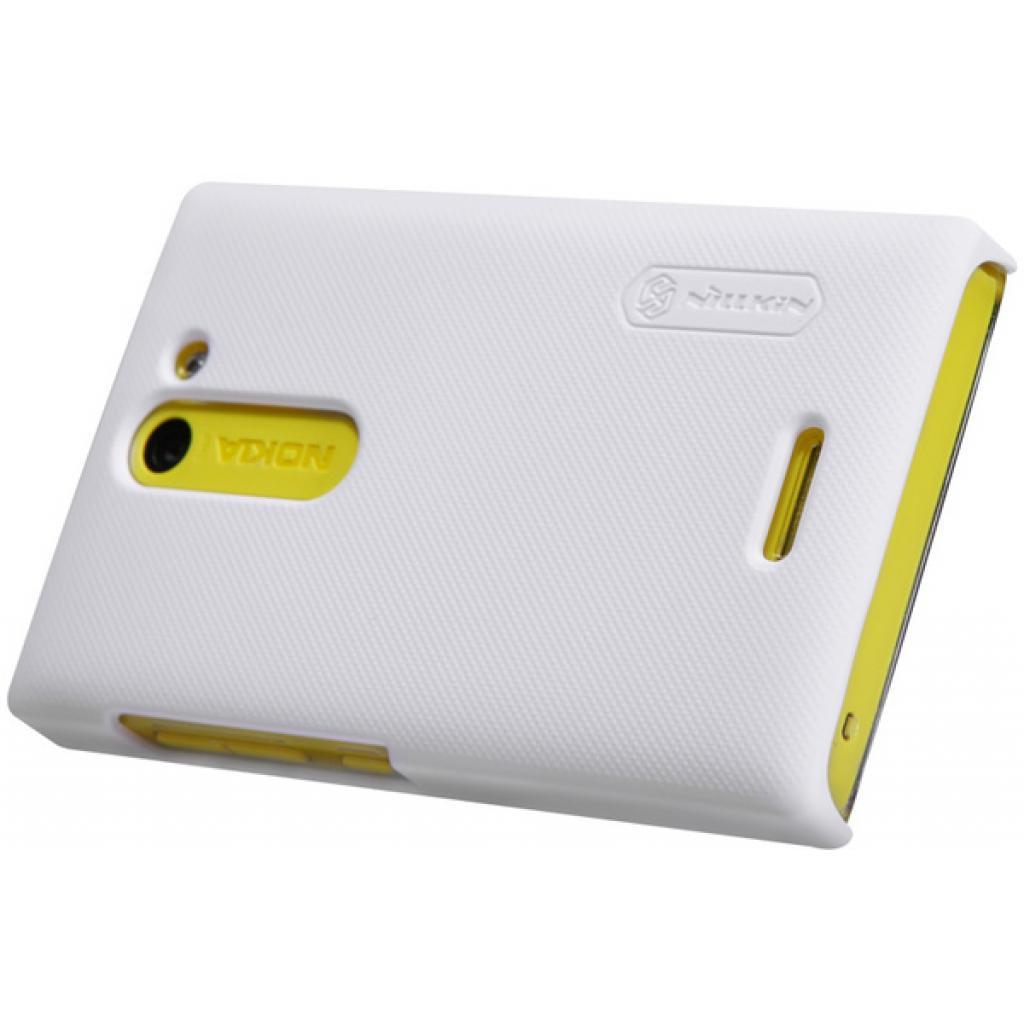 Чехол для моб. телефона NILLKIN для Nokia 502 /Super Frosted Shield/White (6116669) изображение 3