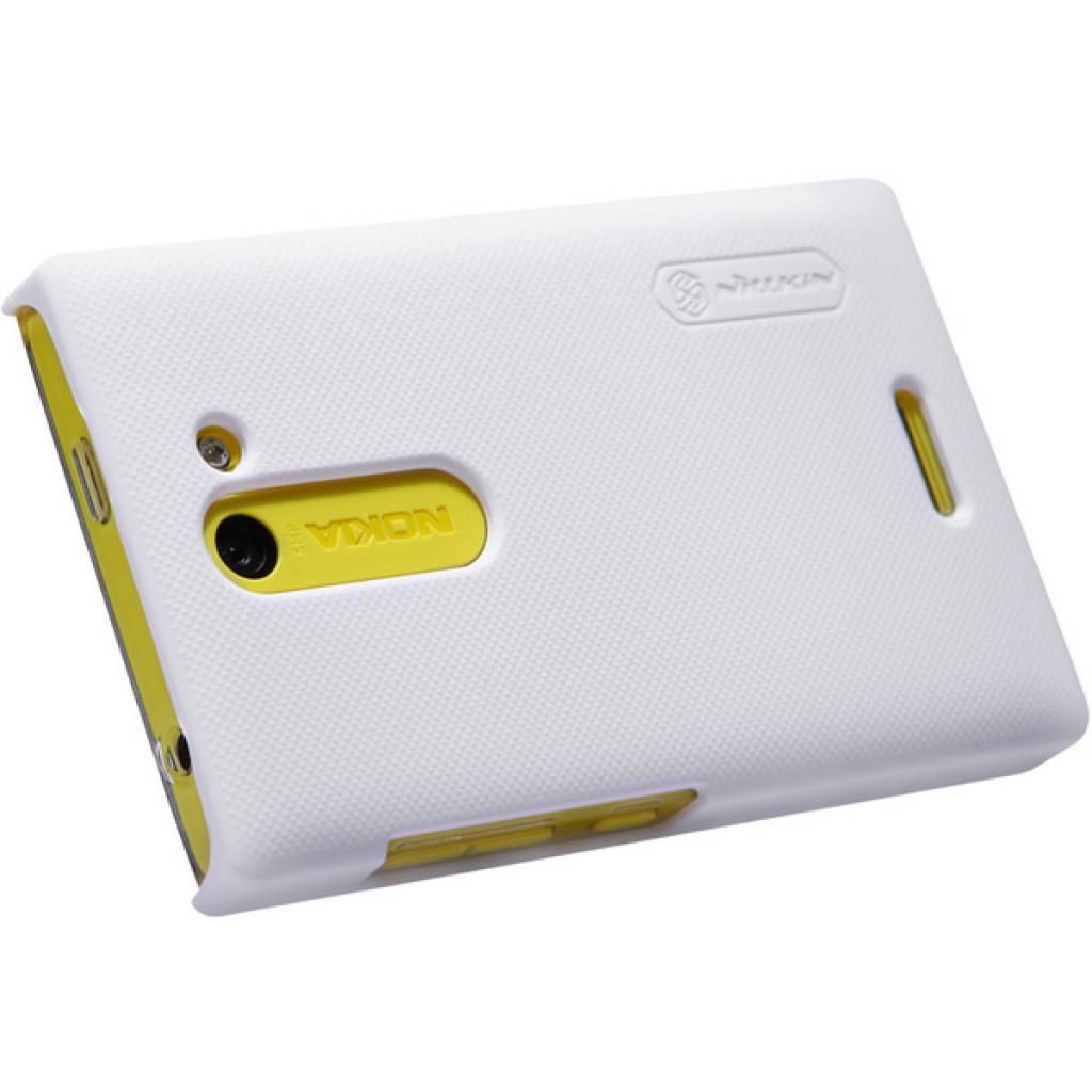 Чехол для моб. телефона NILLKIN для Nokia 502 /Super Frosted Shield/White (6116669) изображение 4