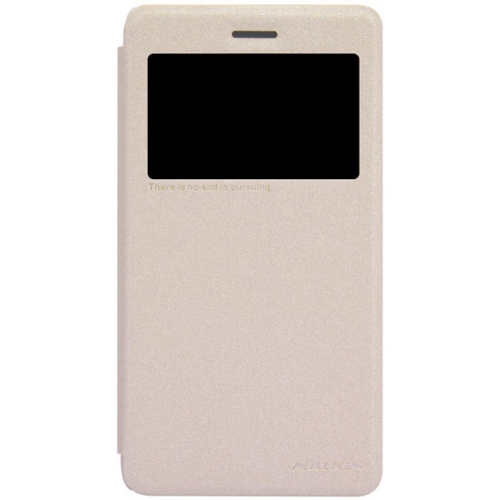 Чехол для моб. телефона NILLKIN для Lenovo S860 /Spark/ Leather/Golden (6154921)