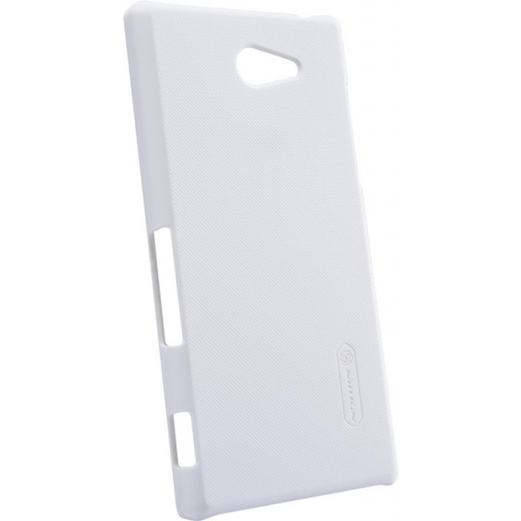 Чехол для моб. телефона NILLKIN для Sony Xperia M2 /Super Frosted Shield/White (6147174) изображение 3