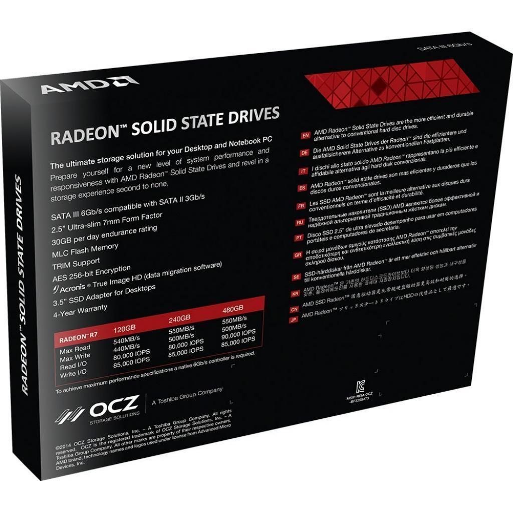 "Накопитель SSD 2.5"" 120GB AMD (RADEON-R7SSD-120G) изображение 8"