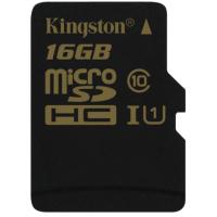 Карта памяти Kingston 16GB microSDHC Class 10 UHS-I (SDCA10/16GBSP)